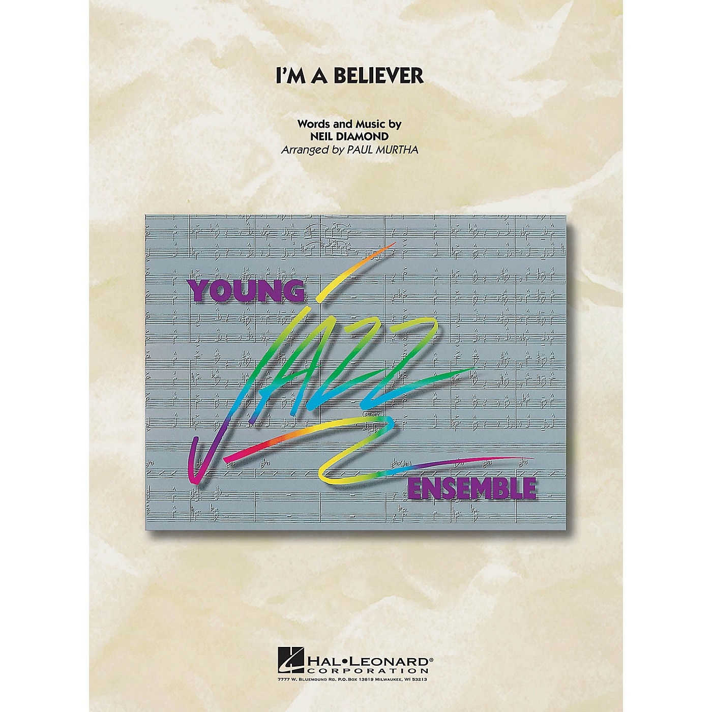 Hal Leonard I'm a Believer Jazz Band Level 3 by Smash Mouth Arranged by Paul Murtha thumbnail