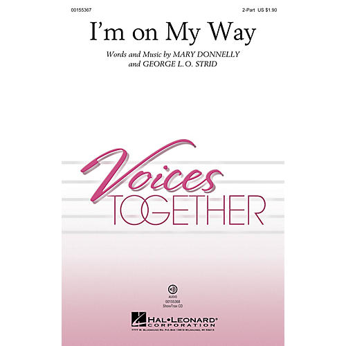 Hal Leonard I'm on My Way 2-Part composed by Mary Donnelly thumbnail