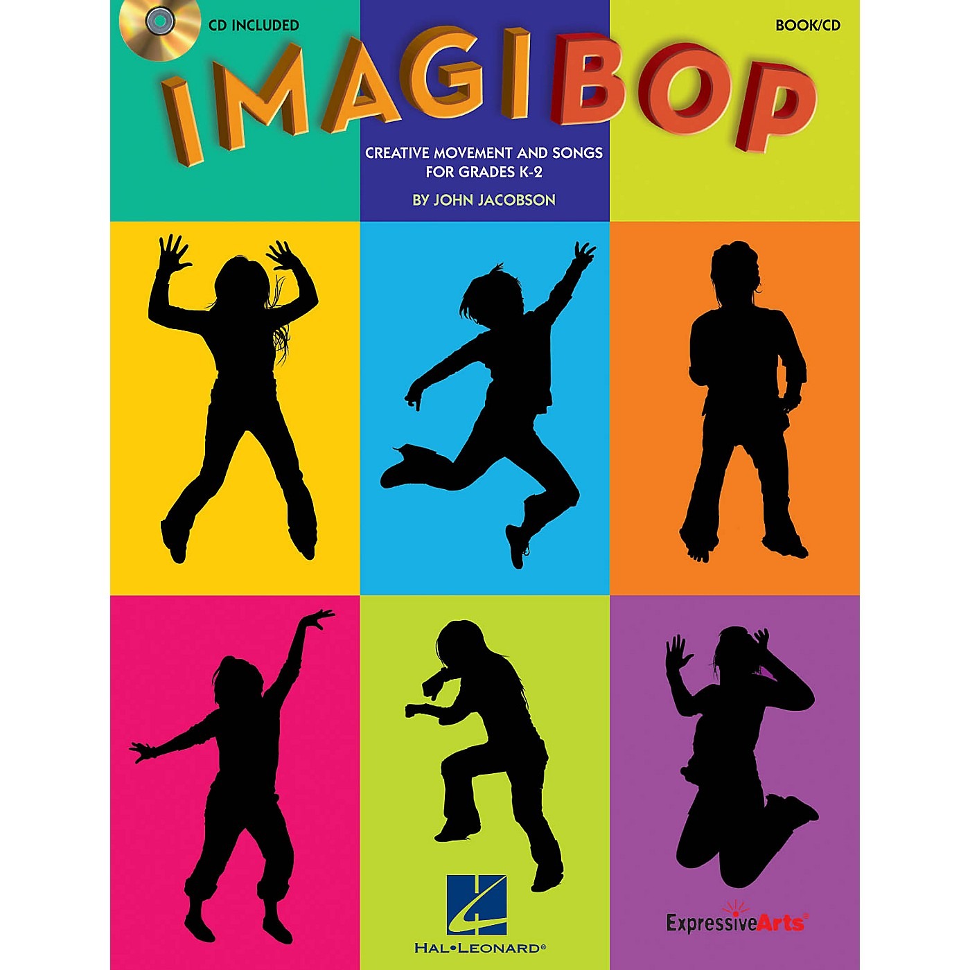 Hal Leonard ImagiBOP (Creative Movement and Songs for Grades K-2) Book and CD pak Composed by John Jacobson thumbnail