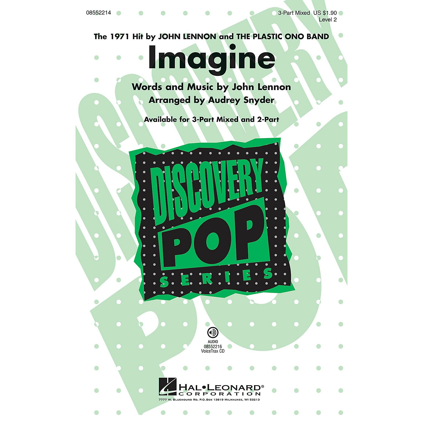 Hal Leonard Imagine (Discovery Level 2) 2-Part by John Lennon Arranged by Audrey Snyder thumbnail