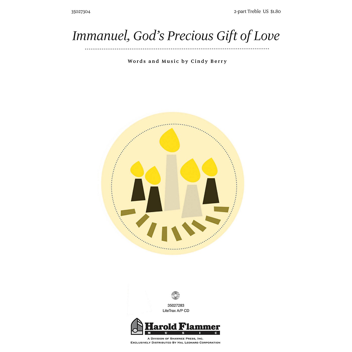 Shawnee Press Immanuel, God's Precious Gift of Love 2PT TREBLE composed by Cindy Berry thumbnail