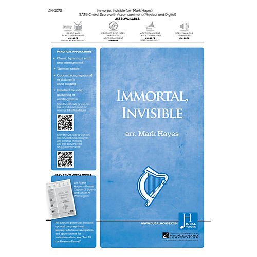 Jubal House Publications Immortal, Invisible, God Only Wise Accompaniment CD Arranged by Mark Hayes thumbnail