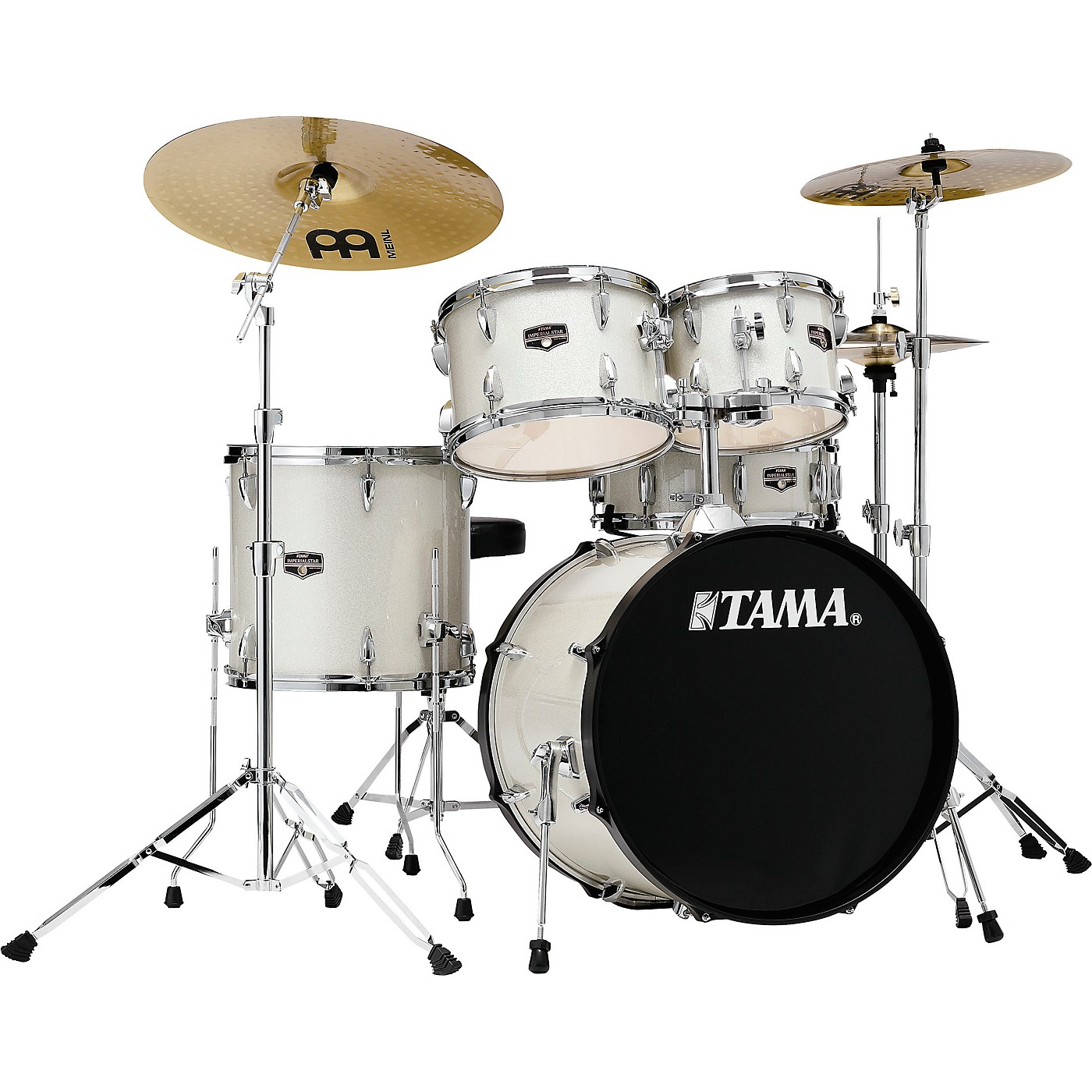 TAMA Imperialstar 5-Piece Complete Drum Set with Meinl HCS cymbals and 20 in. Bass Drum thumbnail