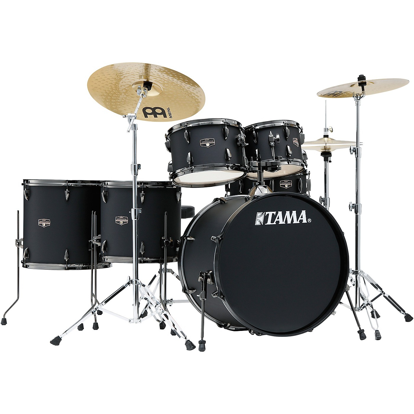 TAMA Imperialstar 6-Piece Complete Drum Set with Meinl HCS Cymbals and 22 in. Bass Drum thumbnail