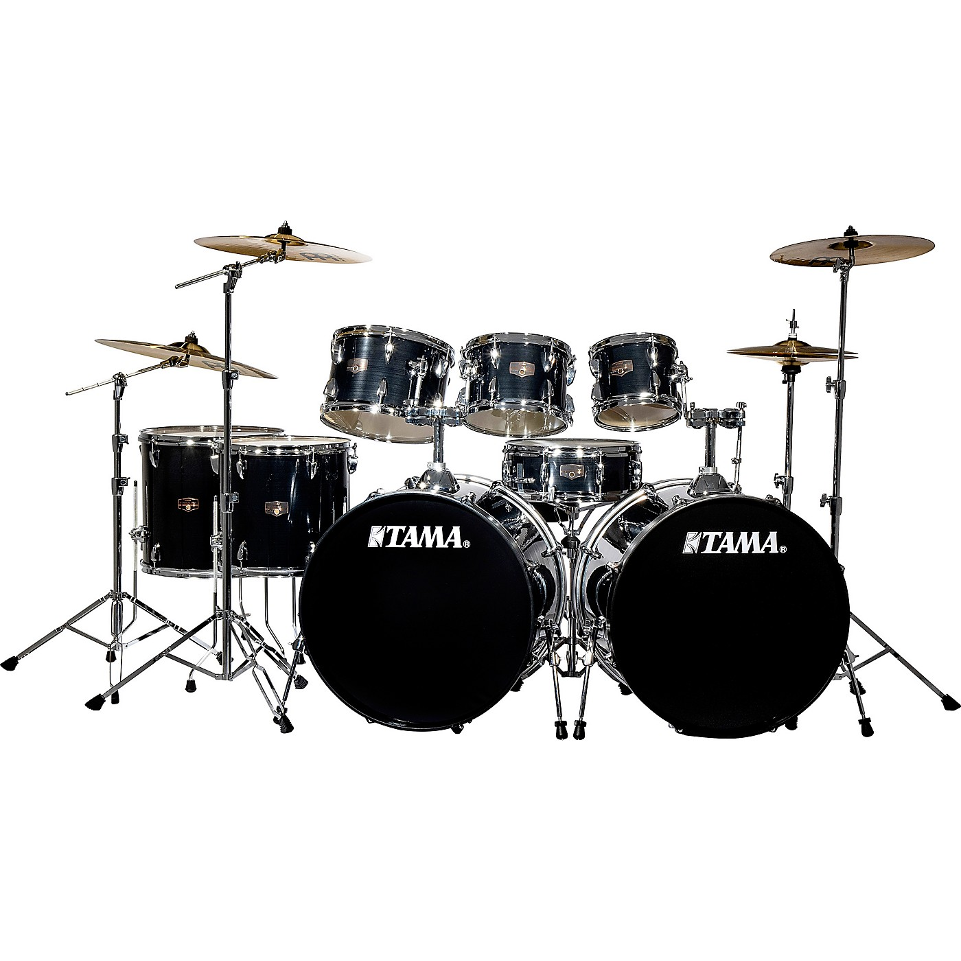 TAMA Imperialstar 8-Piece Double Bass Drum Set with MEINL HCS Cymbals thumbnail