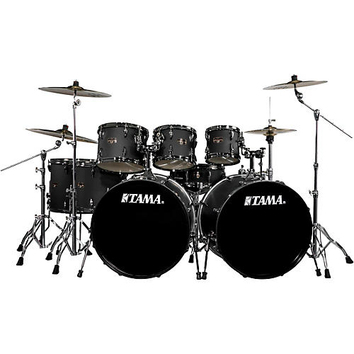 TAMA Imperialstar 8-Piece Drum Set in Black Nickel Hardware with Meinl HCS Cymbals thumbnail