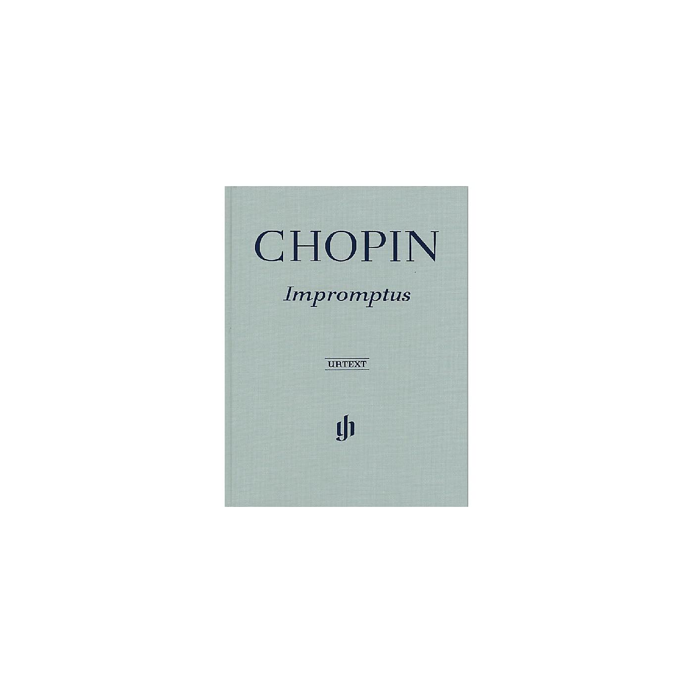 G. Henle Verlag Impromptus Henle Music Folios Series Hardcover thumbnail