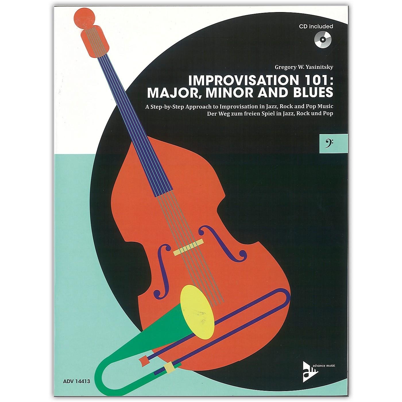 ADVANCE MUSIC Improvisation 101: Major, Minor, and Blues Bass Instruments Book & CD thumbnail