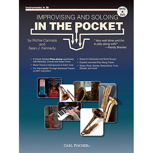 Carl Fischer Improvising And Soloing In the Pocket (For Bb Instruments) - Book/CD thumbnail