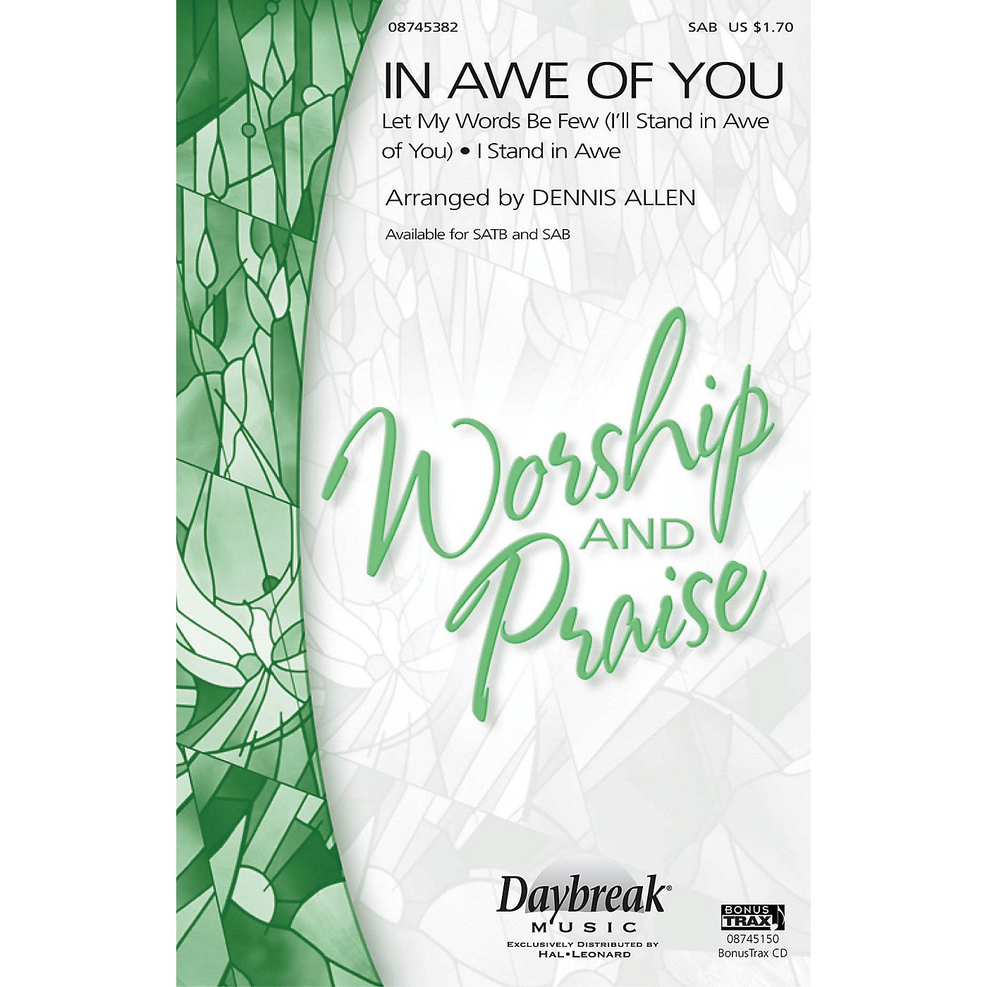 Daybreak Music In Awe of You (Medley) SAB arranged by Dennis Allen thumbnail