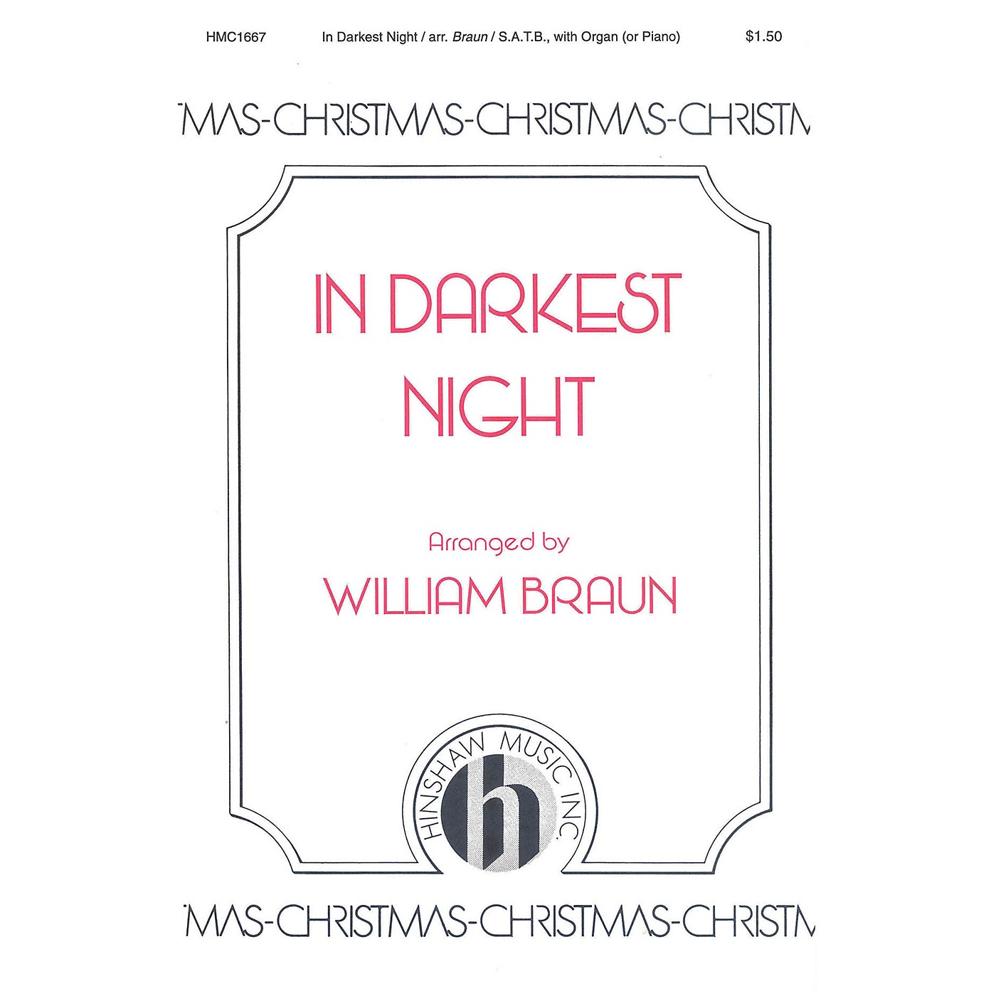 Hinshaw Music In Darkest Night SATB arranged by William Braun thumbnail