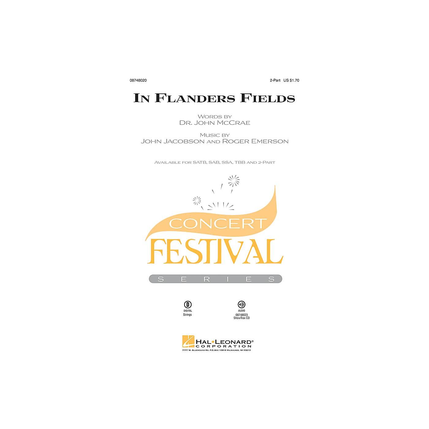 Hal Leonard In Flanders Fields 2-Part arranged by Roger Emerson thumbnail