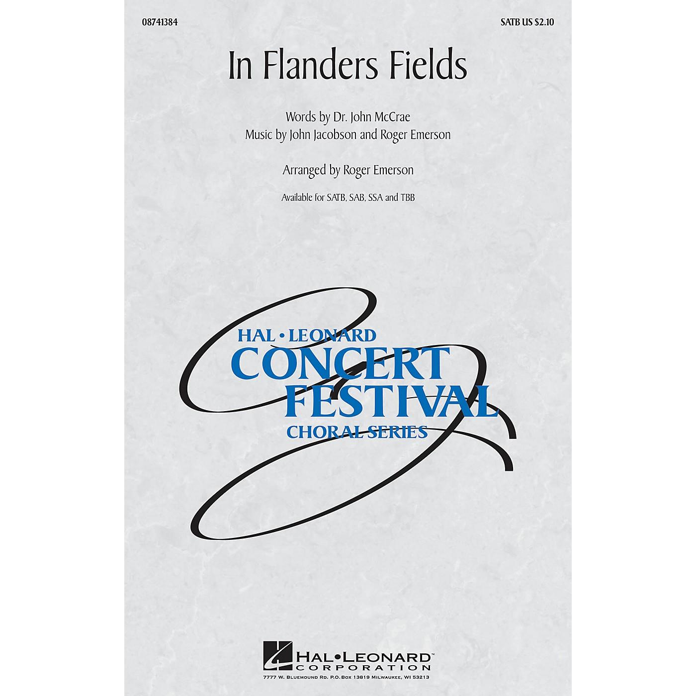 Hal Leonard In Flanders Fields SATB arranged by Roger Emerson thumbnail
