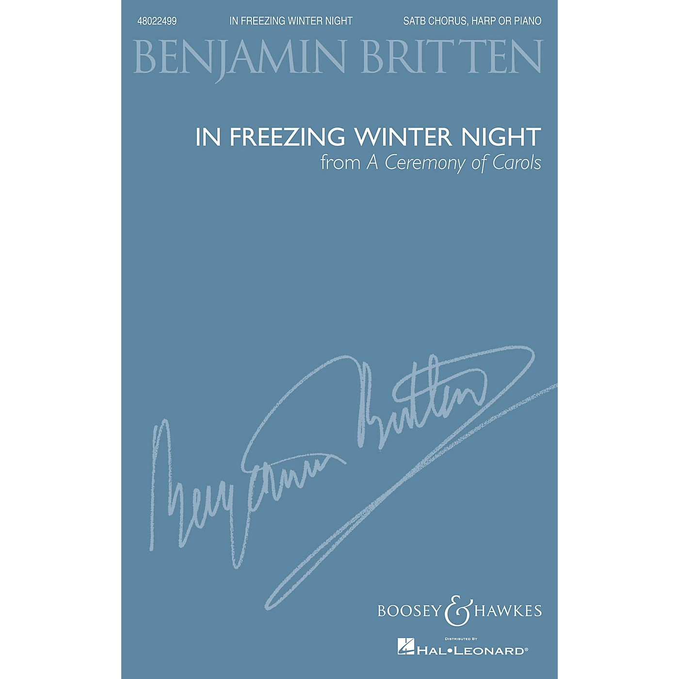Boosey and Hawkes In Freezing Winter Night (from A Ceremony of Carols) SATB and Harp or Piano by Benjamin Britten thumbnail