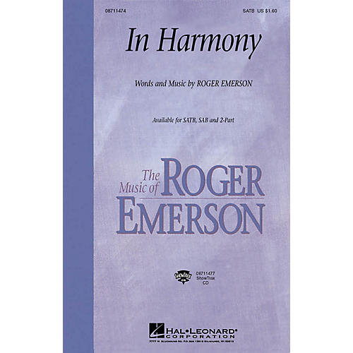 Hal Leonard In Harmony ShowTrax CD Composed by Roger Emerson thumbnail