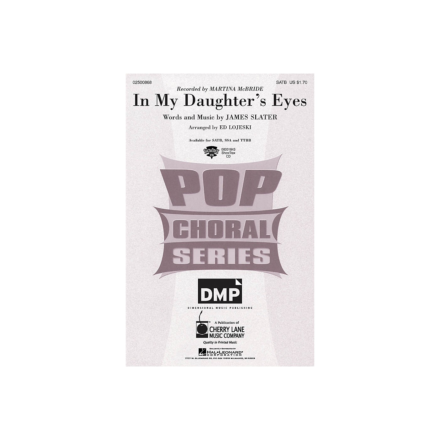 Cherry Lane In My Daughter's Eyes SSA by Martina McBride Arranged by Ed Lojeski thumbnail