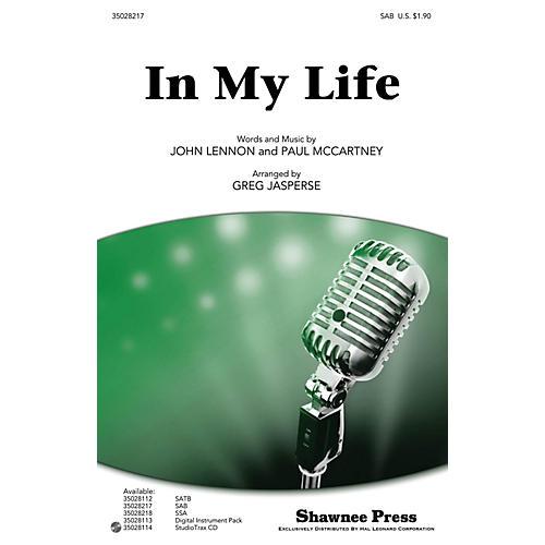 Shawnee Press In My Life SAB by Beatles arranged by Greg Jasperse thumbnail