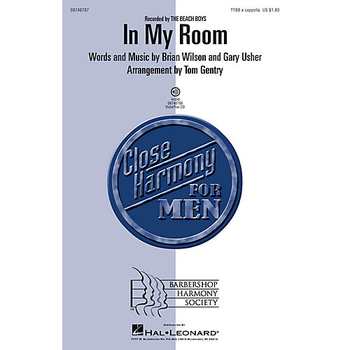 Hal Leonard In My Room TTBB A Cappella by Beach Boys arranged by Tom Gentry thumbnail