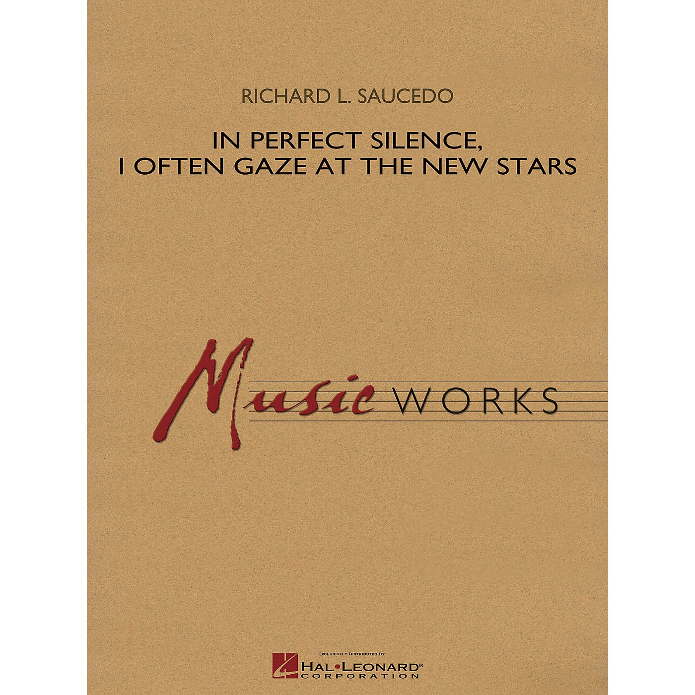 Hal Leonard In Perfect Silence, I Often Gaze at the New Stars Concert Band Level 4 Composed by Richard L. Saucedo thumbnail