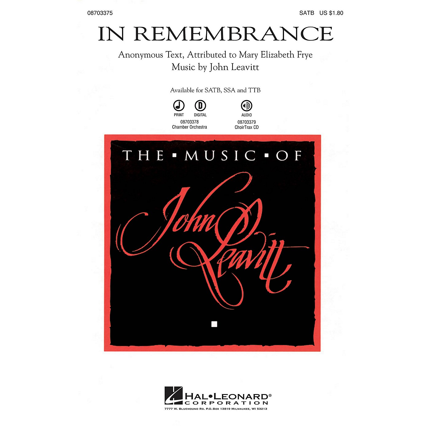 Hal Leonard In Remembrance Chamber Orchestra Composed by John Leavitt thumbnail