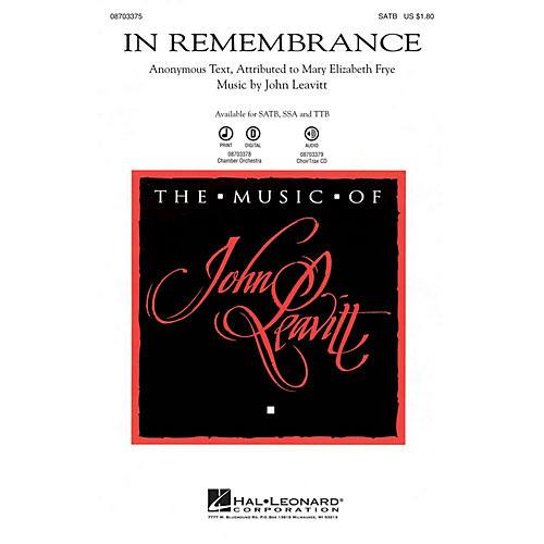 Hal Leonard In Remembrance SSA Composed by John Leavitt thumbnail