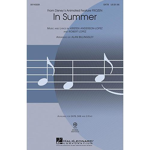 Hal Leonard In Summer (from Frozen) SATB arranged by Alan Billingsley thumbnail