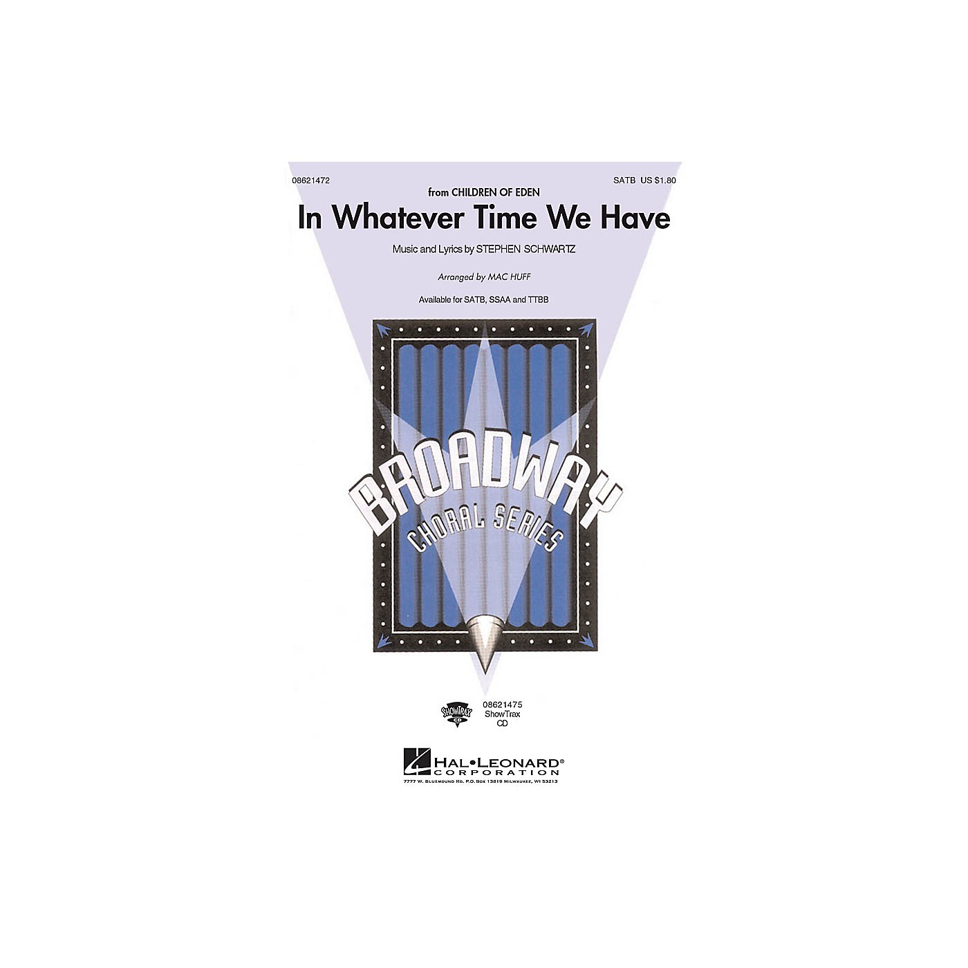 Hal Leonard In Whatever Time We Have TTBB Arranged by Mac Huff thumbnail