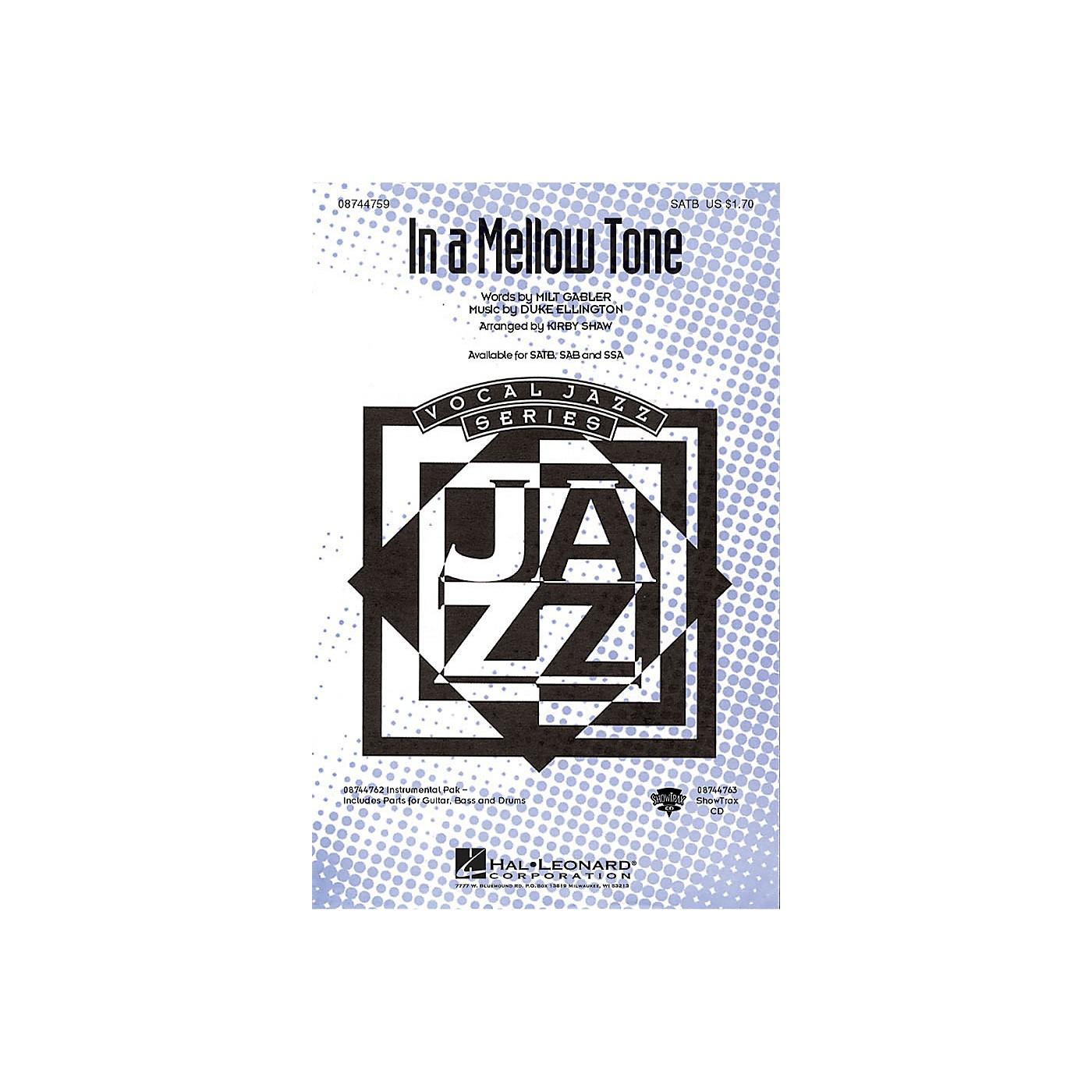 Hal Leonard In a Mellow Tone IPAKR by Duke Ellington Arranged by Kirby Shaw thumbnail