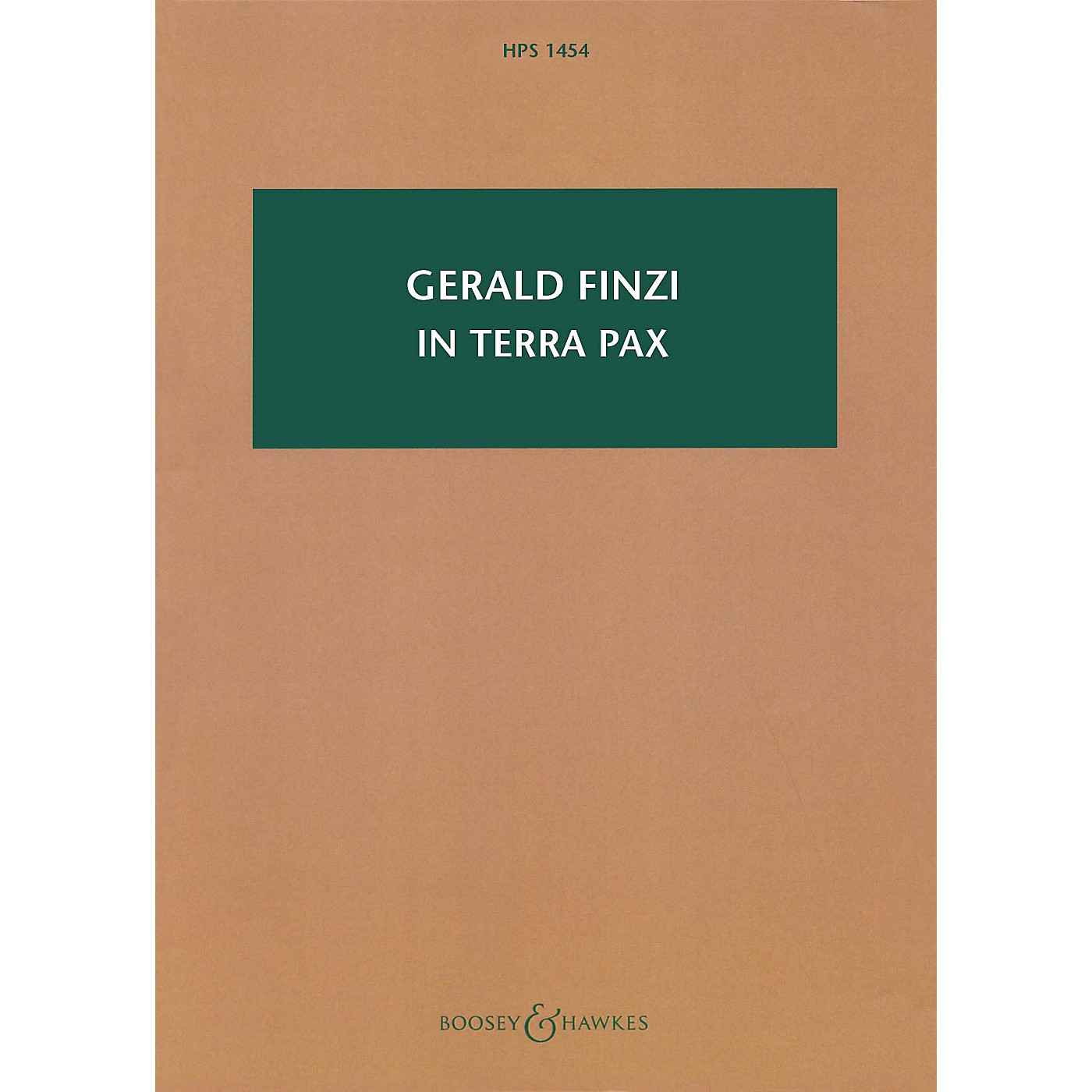 Boosey and Hawkes In terra pax, Op. 39 Boosey & Hawkes Scores/Books Series Softcover Composed by Gerald Finzi thumbnail