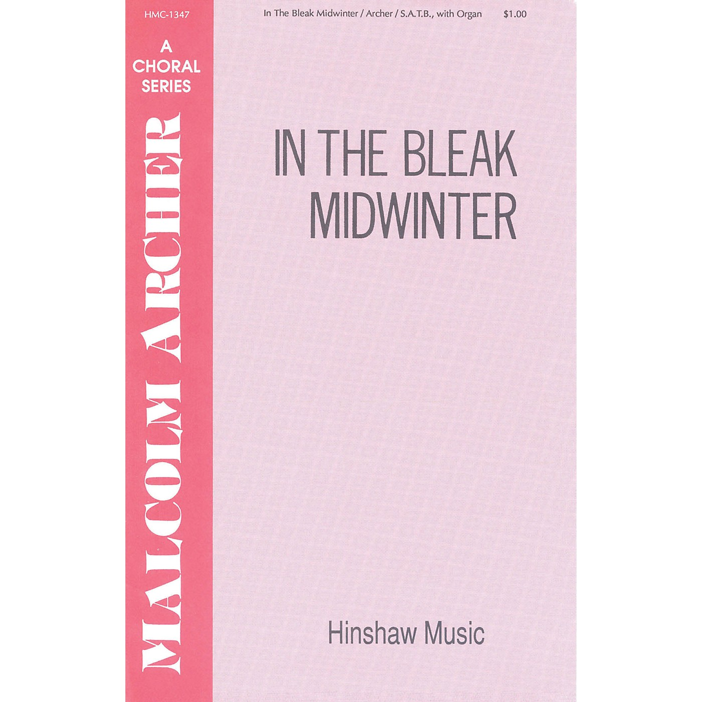 Hinshaw Music In the Bleak Mid-winter SATB composed by Malcolm Archer thumbnail