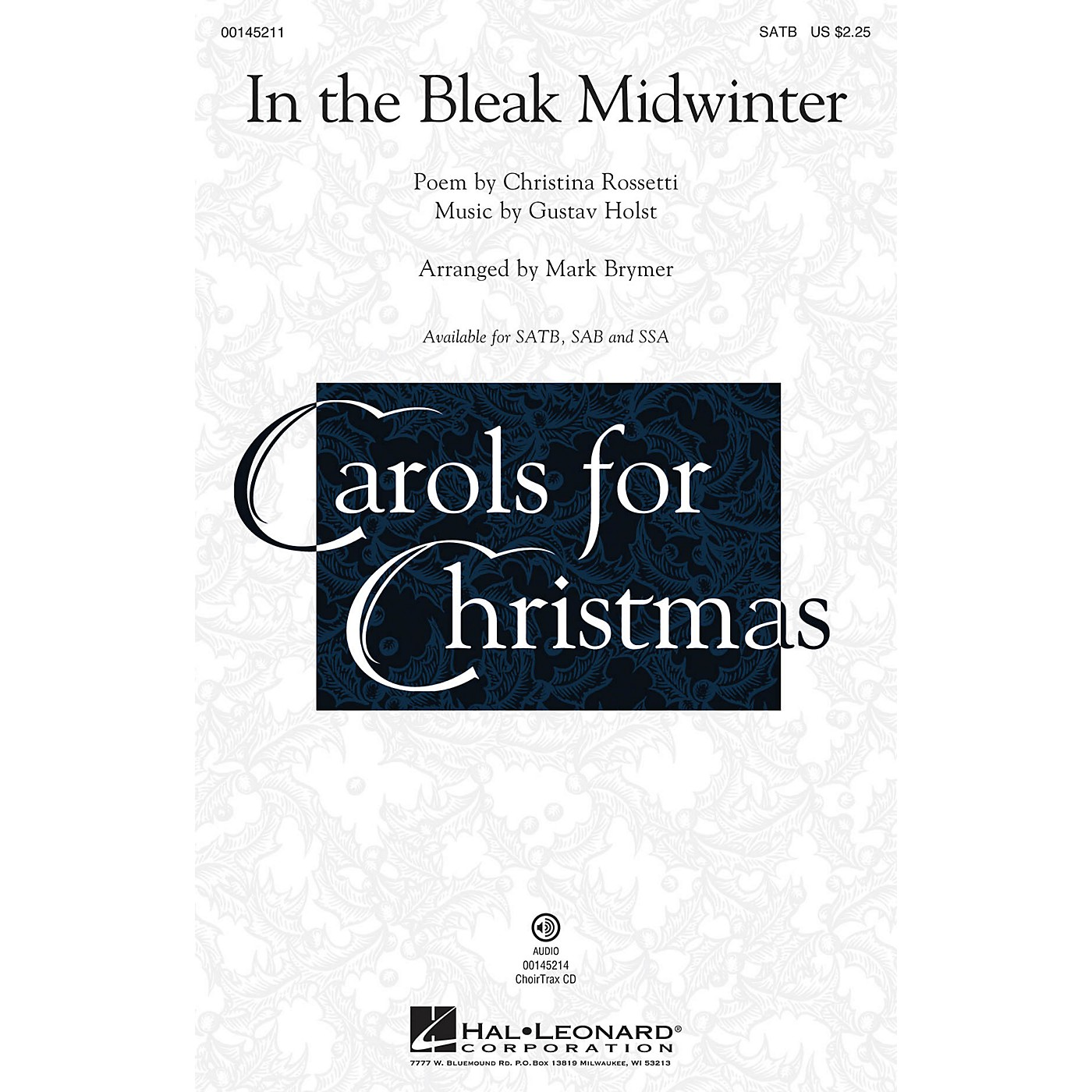 Hal Leonard In the Bleak Midwinter CHOIRTRAX CD Arranged by Mark Brymer thumbnail
