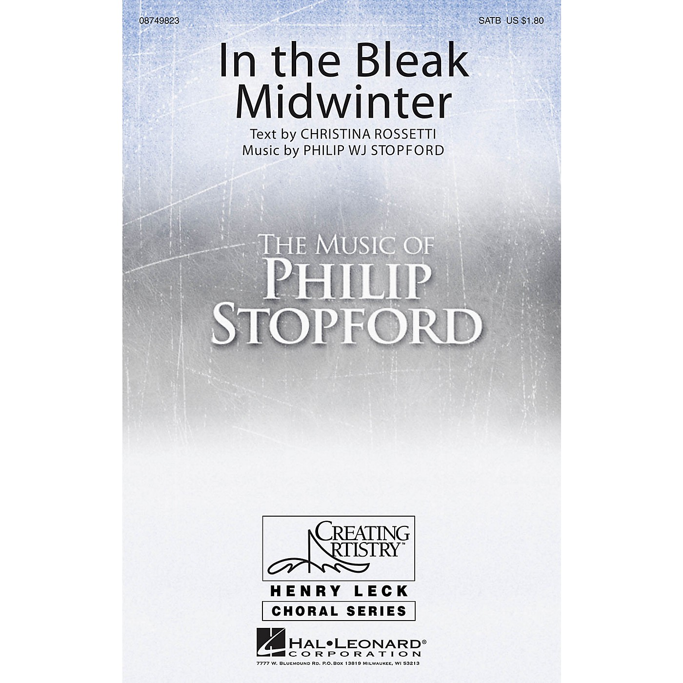 Hal Leonard In the Bleak Midwinter SATB Divisi composed by Philip Stopford thumbnail