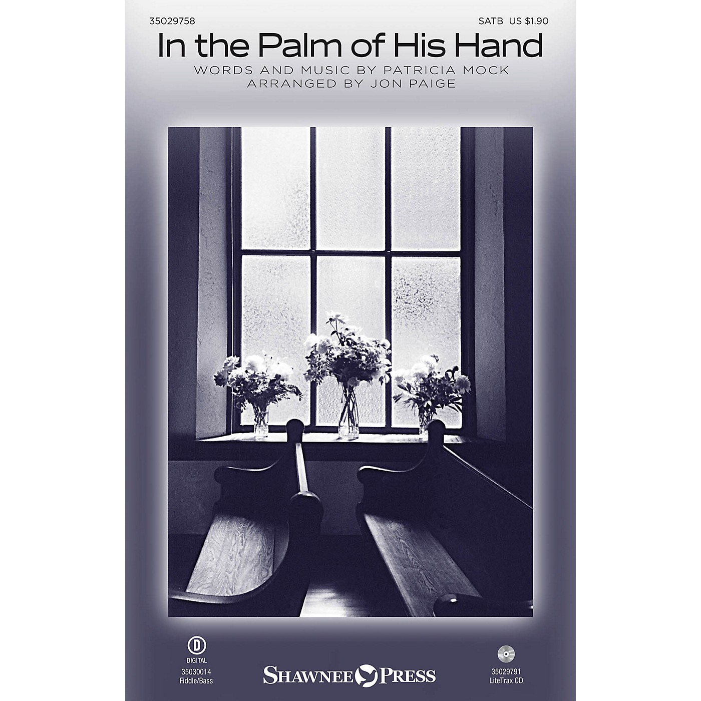 Shawnee Press In the Palm of His Hand SATB arranged by Jon Paige thumbnail