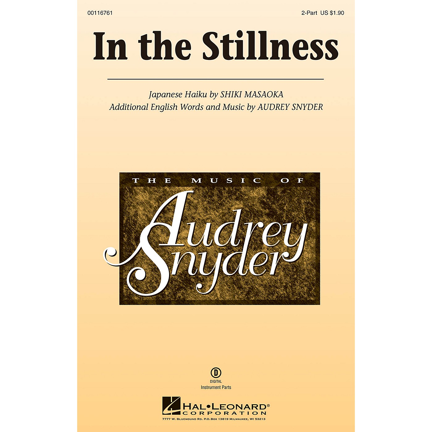 Hal Leonard In the Stillness 2-Part composed by Audrey Snyder thumbnail