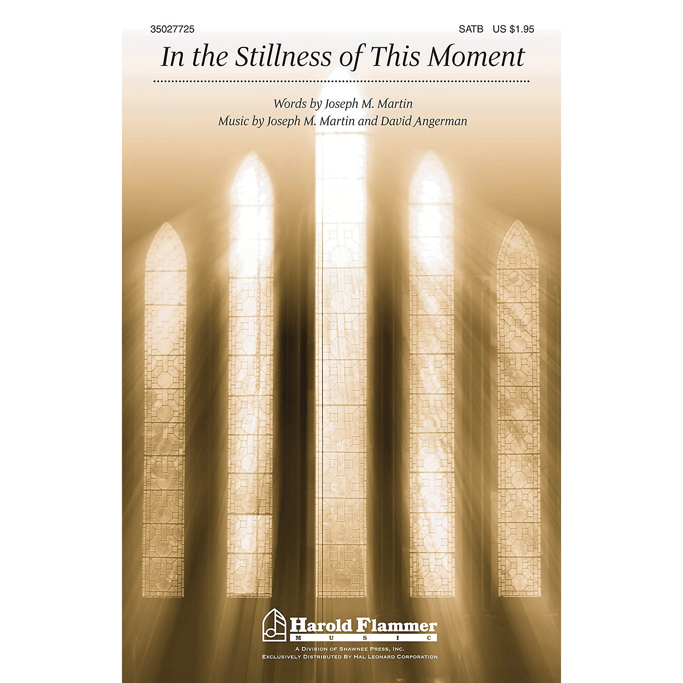 Shawnee Press In the Stillness of this Moment SATB composed by David Angerman thumbnail