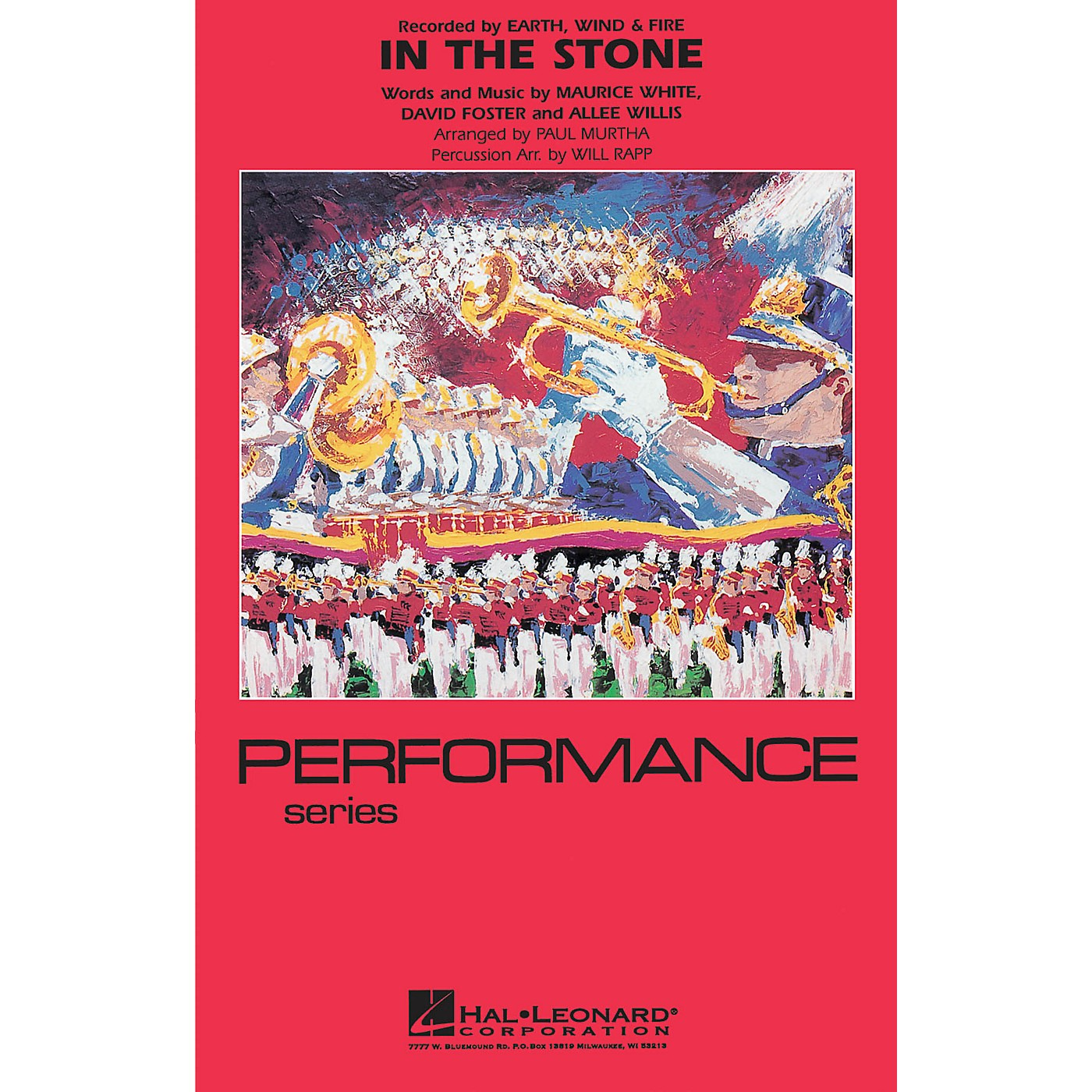 Hal Leonard In the Stone Marching Band Level 4 by Earth, Wind & Fire Arranged by Paul Murtha thumbnail