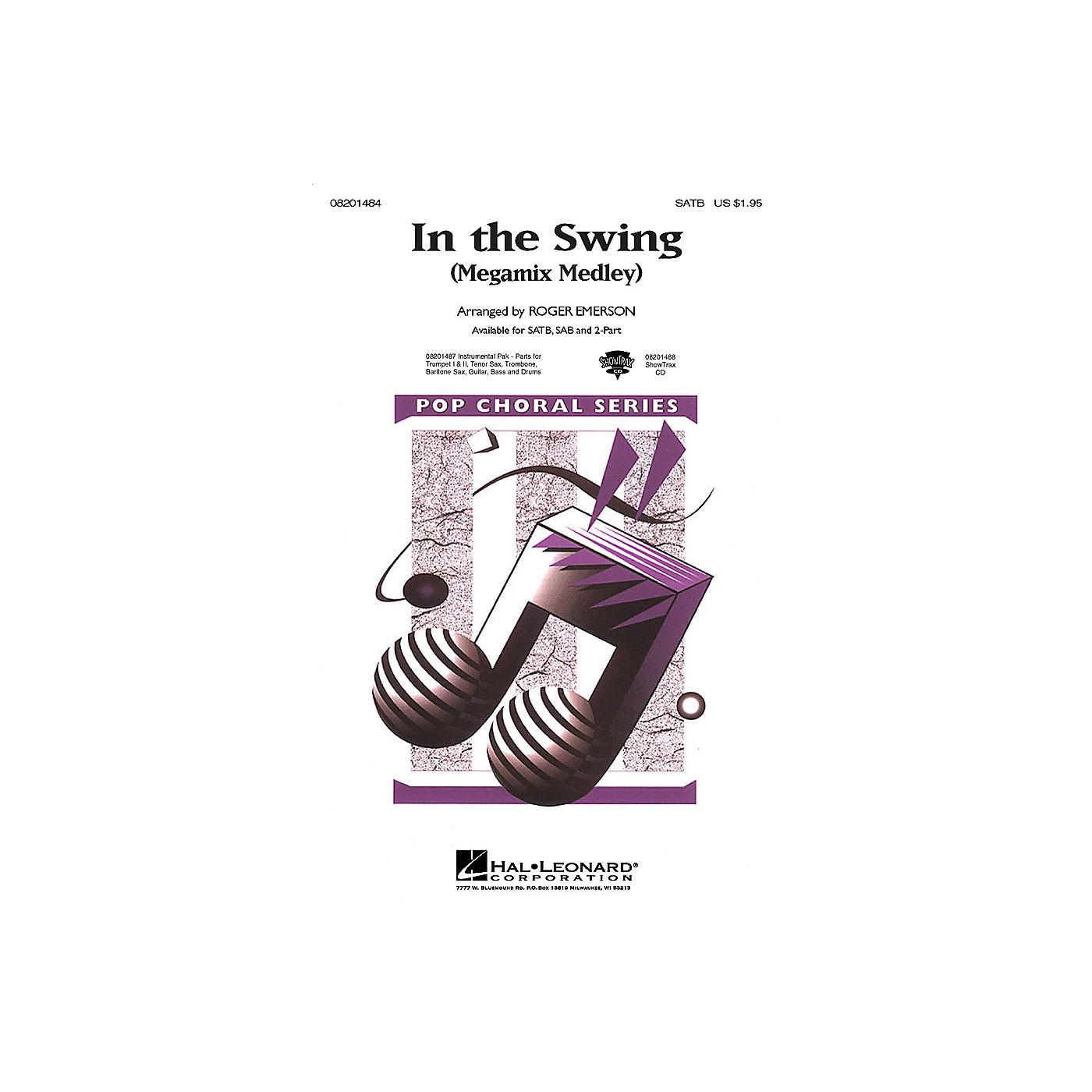 Hal Leonard In the Swing (Medley) (SATB) SATB arranged by Roger Emerson thumbnail