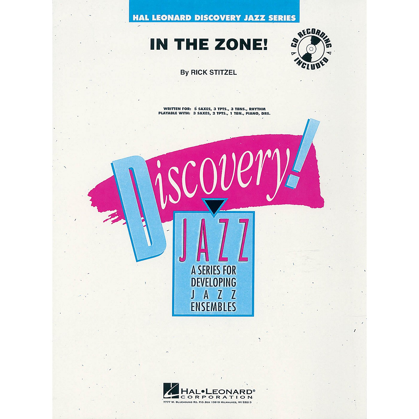Hal Leonard In the Zone! Jazz Band Level 1-2 Composed by Rick Stitzel thumbnail