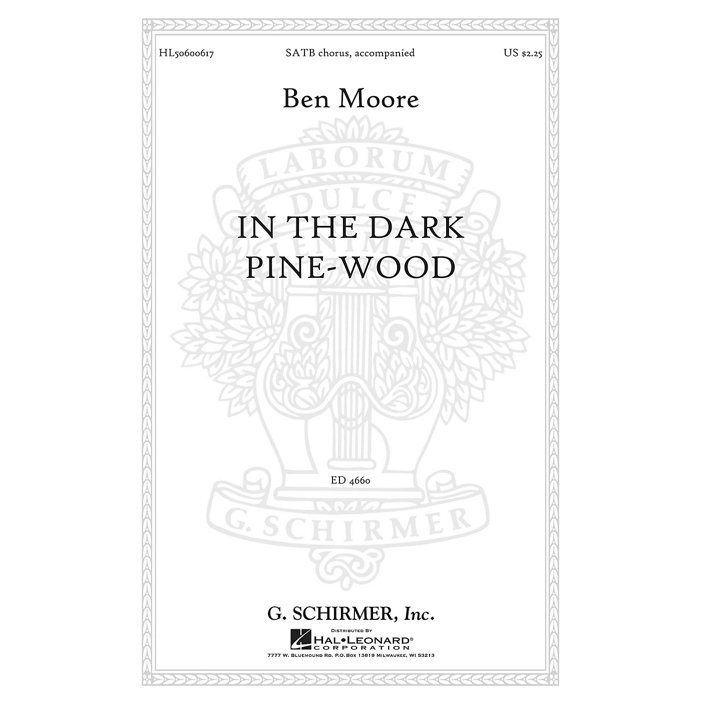 G. Schirmer In the dark pine-wood SATB composed by Ben Moore thumbnail