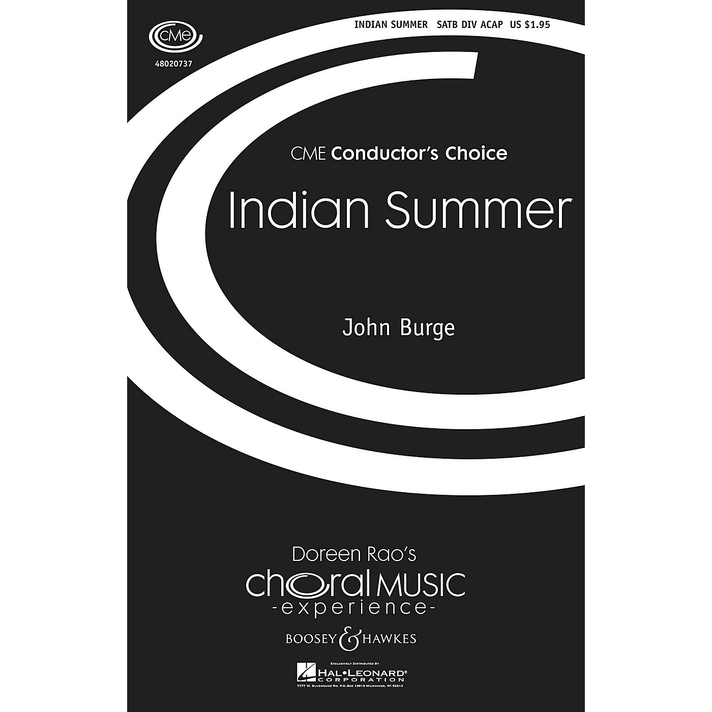 Boosey and Hawkes Indian Summer (CME Conductor's Choice) SATB DV A Cappella composed by John Burge thumbnail