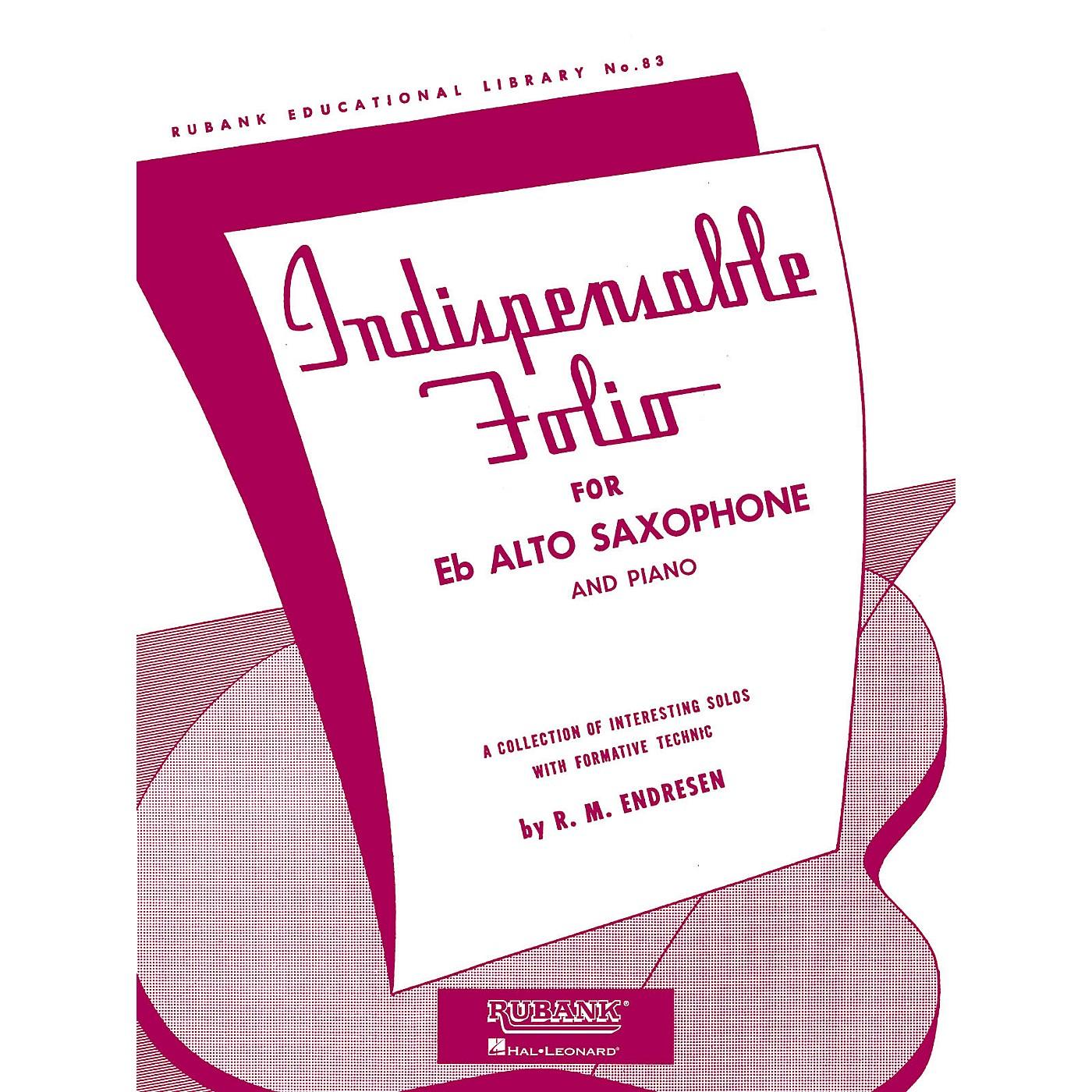 Rubank Publications Indispensable Folio - Eb Alto Saxophone and Piano Rubank Solo Collection Series thumbnail