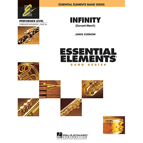 Hal Leonard Infinity (Concert March) Concert Band Level .5 to 1 Composed by James Curnow thumbnail
