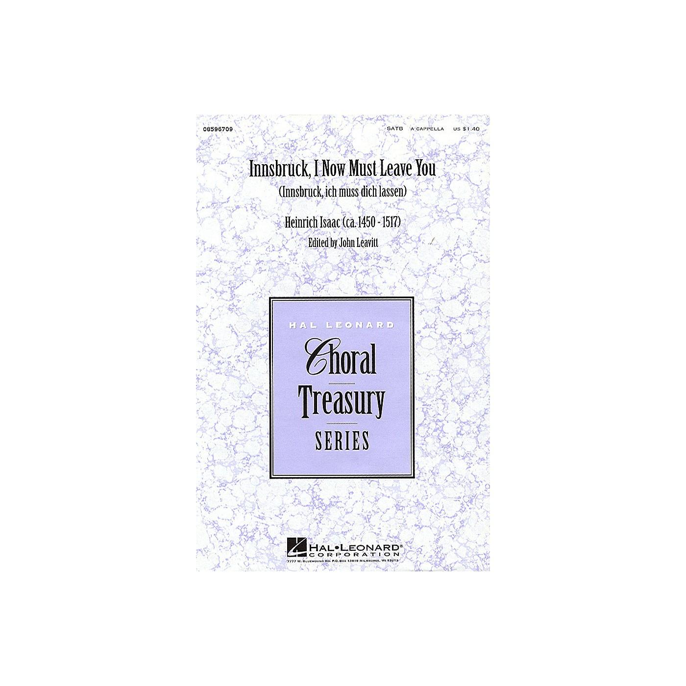Hal Leonard Innsbruck, I Now Must Leave You SATB a cappella arranged by John Leavitt thumbnail