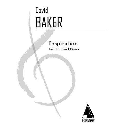 Lauren Keiser Music Publishing Inspiration (Flute with Piano Accompaniment) LKM Music Series Composed by David Baker thumbnail