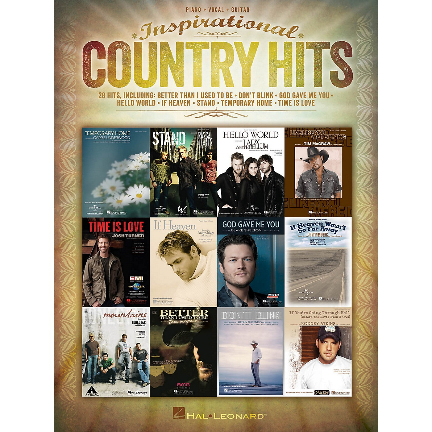 Hal Leonard Inspirational Country Hits for Piano/Vocal/Guitar thumbnail
