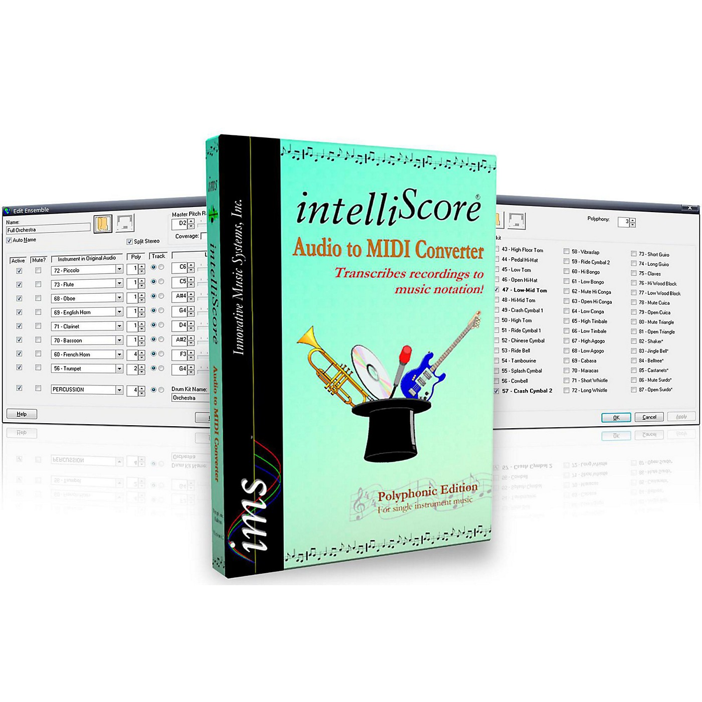 Innovative Music Systems IntelliScore Ensemble Audio to MIDI Converter Software Download thumbnail