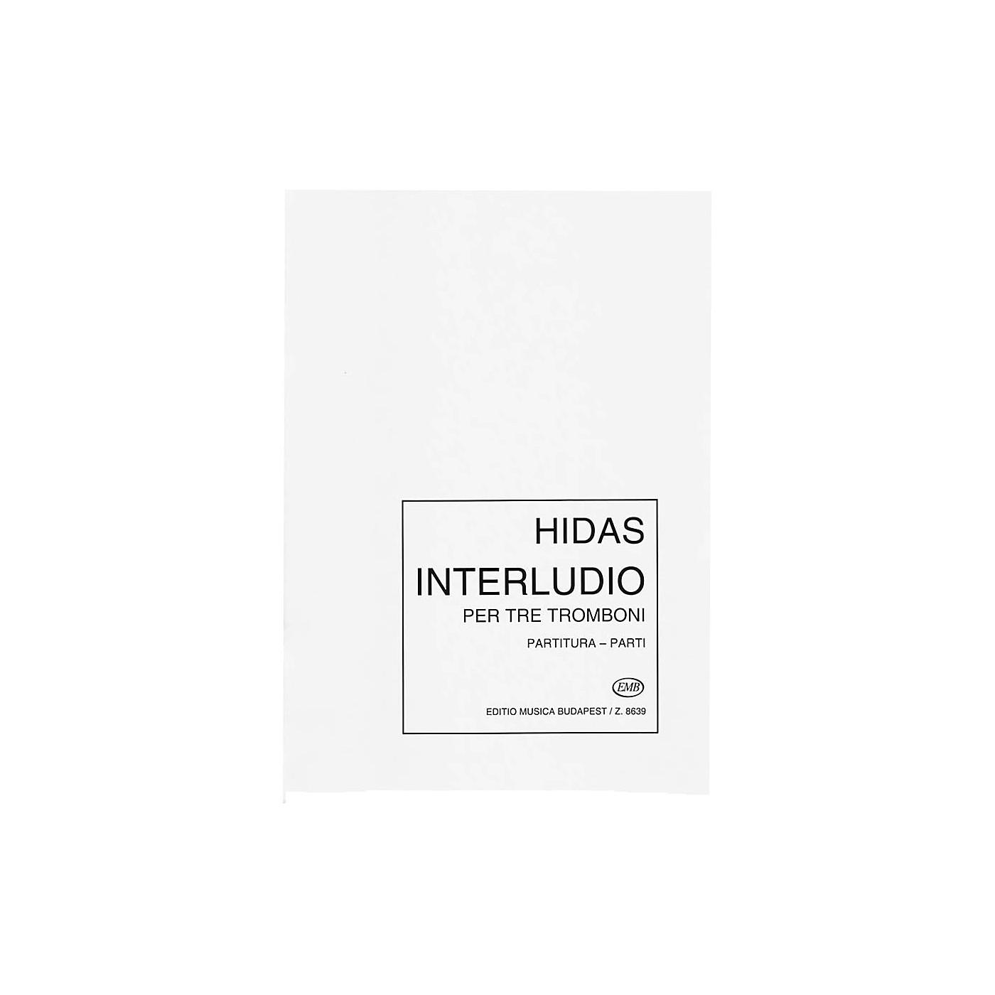 Editio Musica Budapest Interludio for Three Trombones EMB Series by Frigyes Hidas thumbnail