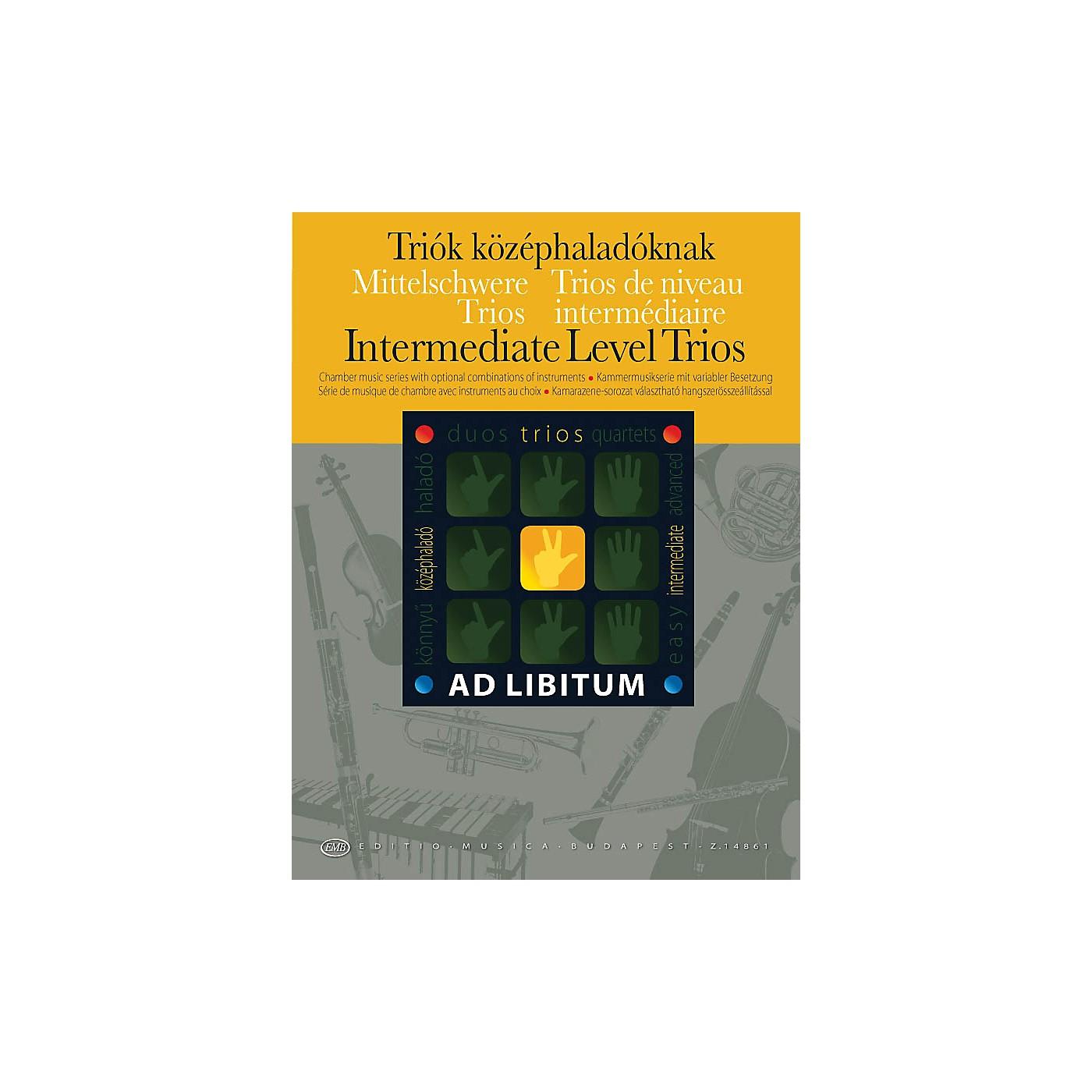 Editio Musica Budapest Intermediate Level Trios EMB Series by Various thumbnail
