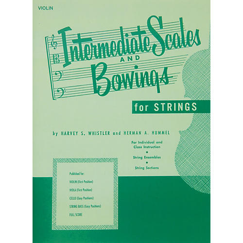 Hal Leonard Intermediate Scales And Bowings for Violin First Position thumbnail