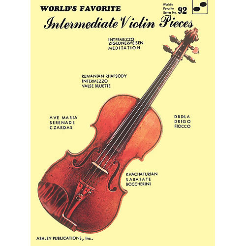 Ashley Publications Inc. Intermediate Violin Pieces (World's Favorite Series #92) World's Favorite (Ashley) Series Softcover thumbnail